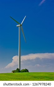 A wind turbine or wind turbine transforms the wind energy into electrical energy