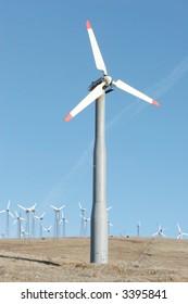 Wind turbines for alternative energy