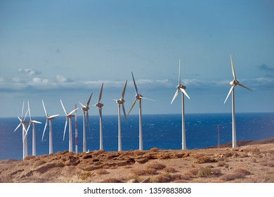 wind turbines in background