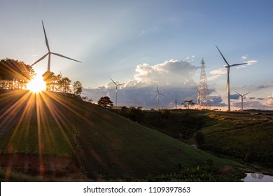 Wind turbines can produce electricity to send to households. Wind turbines generate clean energy and are environmentally friendly.