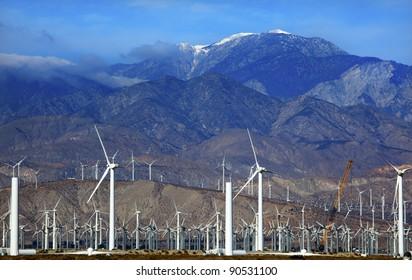 Wind Turbines Coachella Valley Palm Springs California