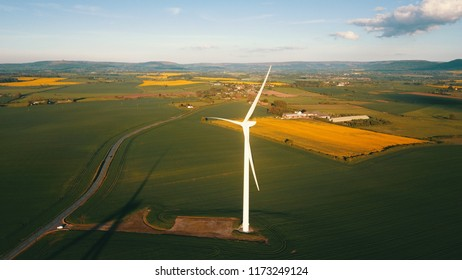 wind turbines in country side