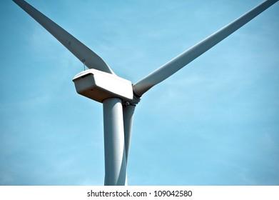 Wind Turbines in Dexter, MN - Mower County, Minnesota, USA. Wind Turbine   Closeup Vertical Photo.