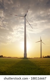 Wind turbines for electric power production, Ulft, Gelderland