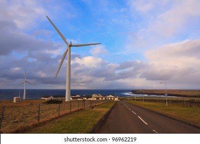 Wind turbines in the far north of Scotland