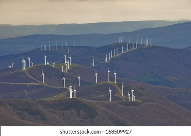 Wind turbines farm, Basque Country (Spain)