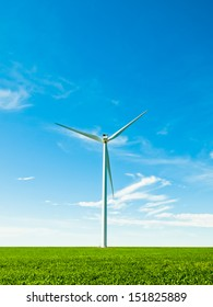 Wind turbines farm in Eastern Colorado.