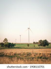 wind turbines in the field