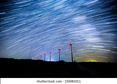wind turbines generating clean power on the star trials