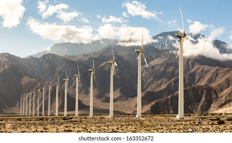 Wind turbines generating eco-friendly electricity,