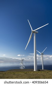 Wind turbines, Maui, Hawaii, USA