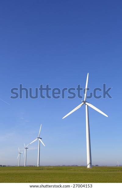 Wind turbines in the Netherlands producing energy