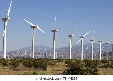 Wind Turbines on Alternative Energy Wind Farm