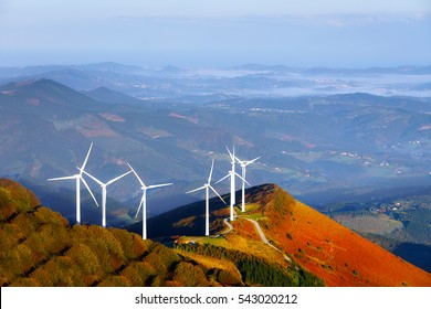 wind turbines on the mountain