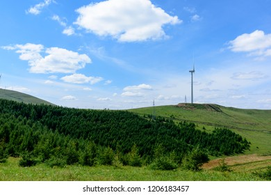 Wind turbines on the prairie