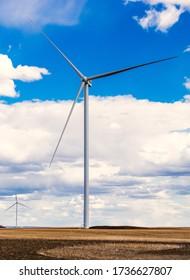 Wind turbines on the prairies