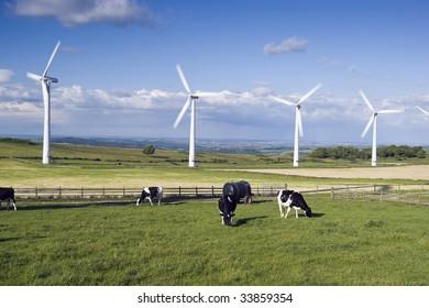 Wind Turbines on Royd Moor above Penistone England