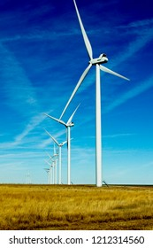 Wind Turbines on Texas ranchland.