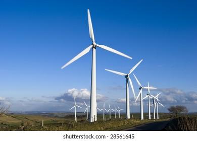 Wind Turbines on the Yorkshire Moors England