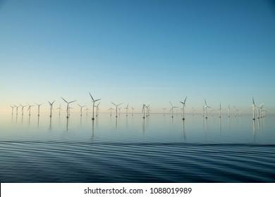 Wind turbines in Oresund