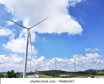 Wind turbines to produce electricity, Green energy sources in Thailand