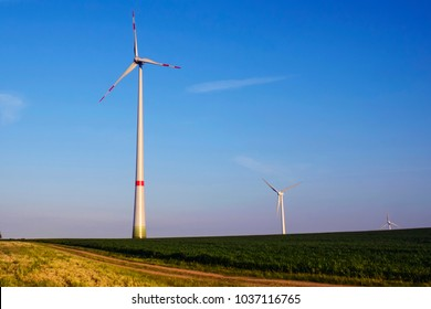 Wind turbines produce environmentally friendly alternative energy without destroying nature