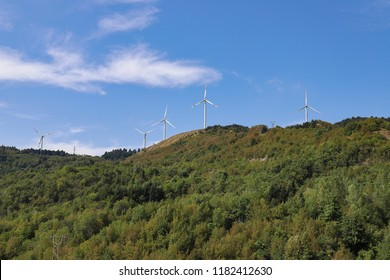 Wind turbines, for the production of electricity by exploiting the wind.