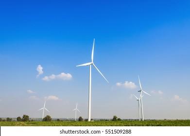 Wind turbines, renewable energy