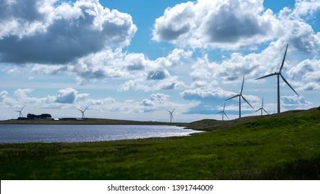Wind turbines in Scotland, United Kingdom