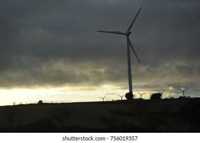 Wind turbines in spain