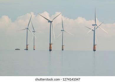 Wind turbines triton knoll skegness