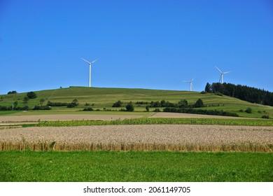 Wind turbines, wind turbine on the Swabian Alb,