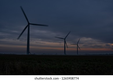 Wind Turbines In Wiltshire England