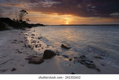 The wind in your hair and the waves lapping your feet.  A glorious summer sunset over Botany Bay, Sydney, Australia