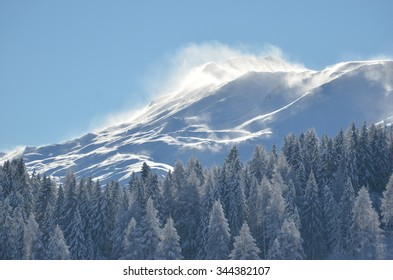 Windblown mountain