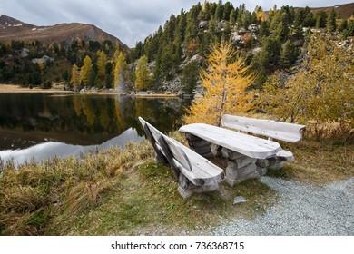 Windebensee (Lake Windeben) on the Nockalm road in the national park Nockberge, district Feldkirchen, Carinthia, Austria