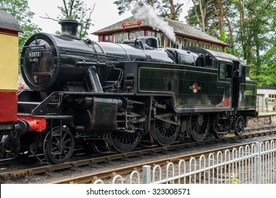 WINDERMERE, LAKE DISTRICT/ENGLAND - AUGUST 21 : 42073 BR Fairburn, at Lakeside Station Windermere in the Lake District England on August 21, 2015