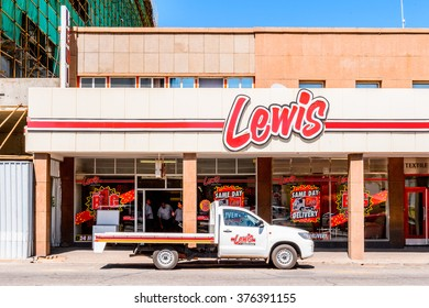 WINDHOEK, NAMIBIA - JAN 3, 2016:Lewis shop in  Windhoek, Namibia. Windhoek is the capital and the largest city of Namibia