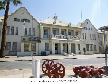 Windhoek, Namibia - September 2 2019: Train station. Buildings, streets and architecture of Windhoek, the capital and largest city of the Republic of Namibia. South Africa