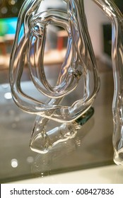 Winding abstract glass tube