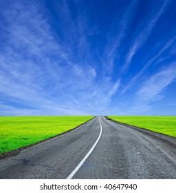 winding asphaltic road