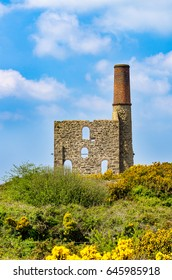 The winding engine house at Cook's Kitchen Mine near Pool, Cornwall.