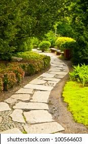 Winding garden alley