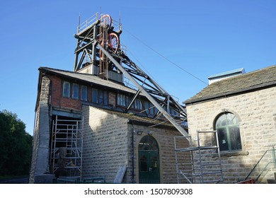 The winding head and building at the national coal minning museum for england Wakefield Yorkshire England 17/09/2019 by Roy Hinchliffe