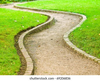 Winding path in botanical garden