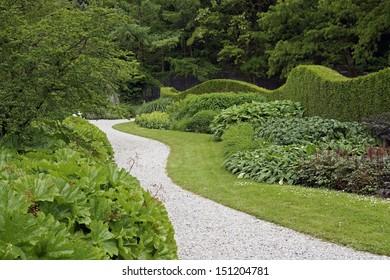 Winding path in a formal garden