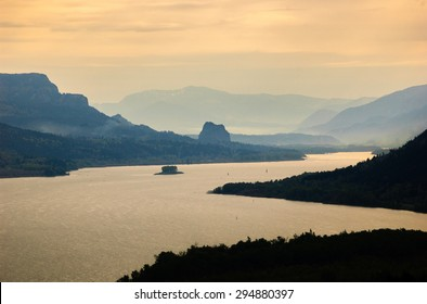 Winding River at Columbia, Columbia Gorge