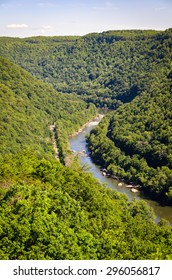 Winding River at New River Gorge