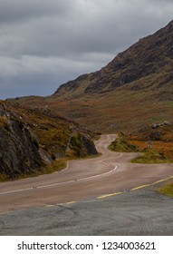 Winding road along the Ring of Kerry, Ireland