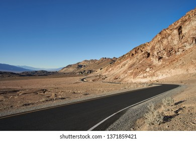 Winding road in Death Valley, California.